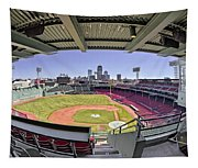 Fenway Park And Boston Skyline Tapestry