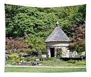 Fernwood Botanical Garden Stone Herb House Usa Tapestry