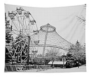 Ferris Wheel And R F P Pavilion - Spokane Washington Tapestry