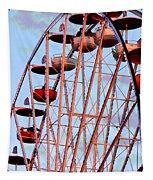 Ferris Wheel At Sunset Tapestry