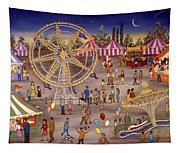 Ferris Wheel At The Carnival Tapestry