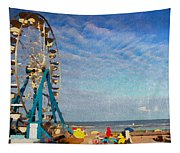 Ferris Wheel On A Gorgeous Day Tapestry