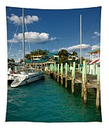 Ferry Station Paradise Island Tapestry