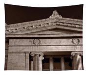 Field Museum Of Chicago Bw Tapestry
