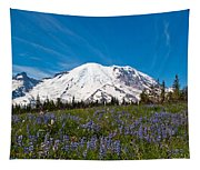 Field Of Lupines And Rainier Tapestry