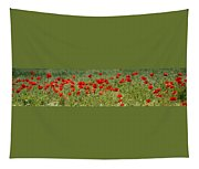 Field Of Poppies Tapestry