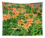 Field Of Tiger Lilies Tapestry
