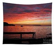 Fiery Afterglow Tapestry