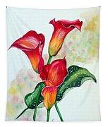 Fiery Callas Tapestry
