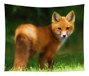 Fiery Fox Tapestry