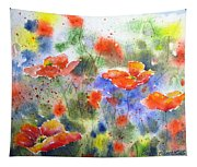 Fiery Poppies Tapestry