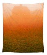 Fiery Sunrise On The Farm Tapestry