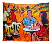 Fiesta At The Beach Tapestry