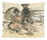 Figure Study Two Women Seated Tapestry