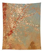 Figure Under A Blossoming Tree Tapestry