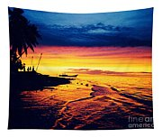 Fiji Paradise Sunset Tapestry