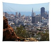 Financial District From Corona Heights Tapestry