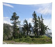 Fir Trees At Mount Baker Tapestry