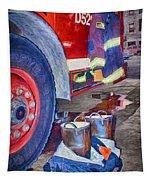 Fire Engine - Firemen - Equipment Tapestry