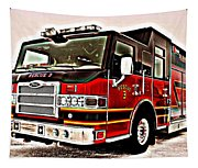 Fire Engine Red Tapestry