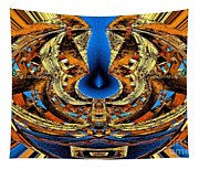 Fire In Wood Tapestry