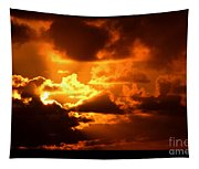 Fire Over The Ocean Tapestry