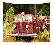 Fire Truck Digital Painted Tapestry