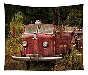 Fire Truck With Texture Tapestry