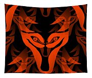 Fire Wolf Tapestry