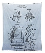 Firefighter's Helmet Patent Tapestry by Dan Sproul