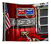 Fireman - Fire Engine Tapestry