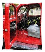 Fireman - Fire Truck With Fireman's Uniform Tapestry