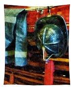 Fireman - Fireman's Helmet And Jacket Tapestry