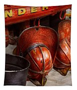 Fireman - Hats - I Volunteered For This  Tapestry by Mike Savad