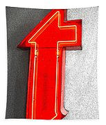 Firestone Building Red Neon T Tapestry