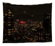 Fireworks From My Window 1 - Manhattan Tapestry