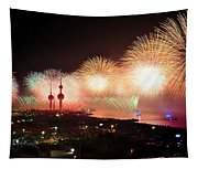Fireworks Over Kuwait City Tapestry