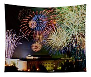 Fireworks Over The Museum Tapestry