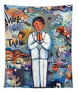 First Communion Boy Tapestry