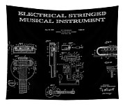 First Electric Guitar 2 Patent Art  1937 Tapestry