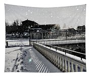 First Footsteps In The Snow Tapestry