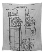 First Gas Pump Patent Drawing Tapestry