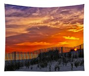 First Light At Cape Cod Beach  Tapestry