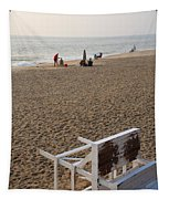 First On The Beach At Bethany Beach In Delaware Tapestry