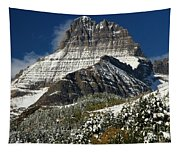 First Snow At Mount Wilbur  Tapestry
