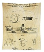 First True Motion Picture Projector Patent  1897 Tapestry