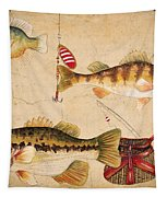 Fish Trio-a Tapestry by Jean Plout