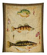 Fish Trio-c-green Tapestry