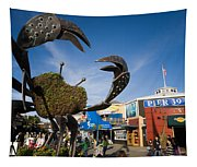 Fishermans Wharf Crab Tapestry