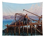 Fishermen Bringing In The Catch Tapestry